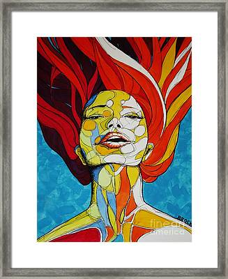 Immersed Framed Print by Kyle  Brock