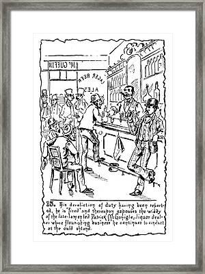 Immigrants: Irish, C1885 Framed Print by Granger