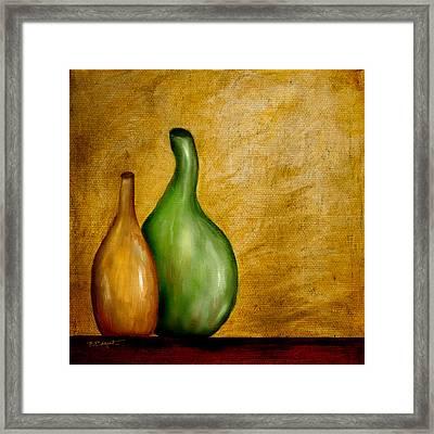 Imperfect Vases Framed Print by Brenda Bryant