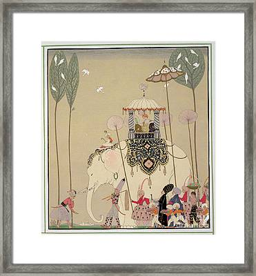 Imperial Procession Framed Print by Georges Barbier