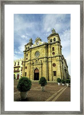 Imposing Church Of San Pedro Claver Framed Print by Jerry Ginsberg