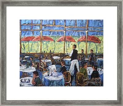 Impresionnist Cafe By Prankearts Framed Print by Richard T Pranke