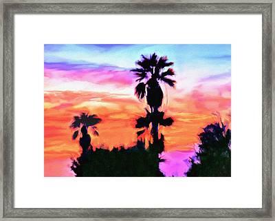 Impression Desert Sunset V2 Framed Print by Bob and Nadine Johnston