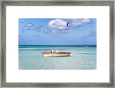 Impression Of Aruba  Framed Print by George Oze