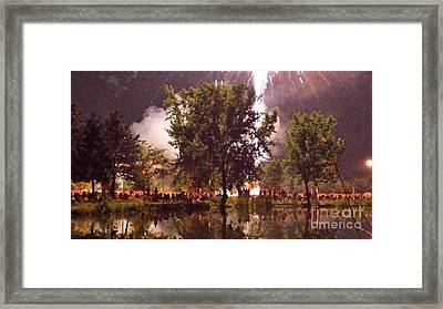 Impressionist Fireworks Framed Print by Paddy Shaffer