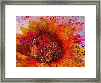 Impressionistic Colorful Flower  Framed Print by Ann Powell