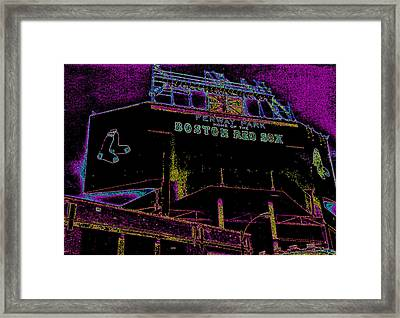 Impressionistic Fenway Park Framed Print by Gary Cain