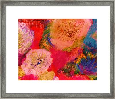 Impressionistic Flowers From The Imagination Framed Print by Anne-Elizabeth Whiteway