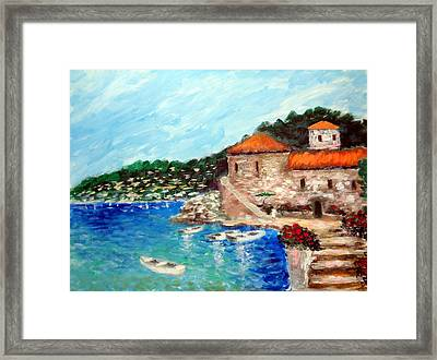 Impressions Of The Mediterranean Framed Print by Larry Cirigliano