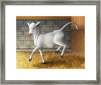 Improbable- Blissful As A Child Framed Print by Cara Bevan