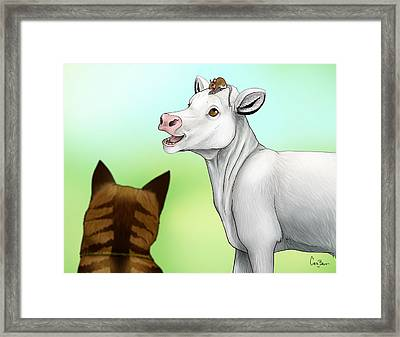 Improbable-hearts Keeping Time Framed Print by Cara Bevan