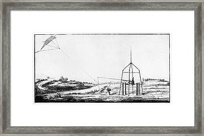 Improvement Of Franklin's Electrical Kite Framed Print by American Philosophical Society