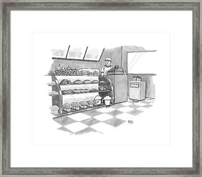In A Bakery Framed Print by Benjamin Schwartz