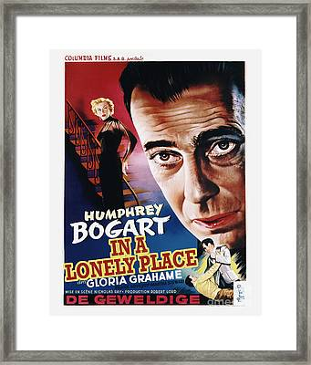 In A Lonely Place Movie Poster - Bogart Framed Print by MMG Archive Prints