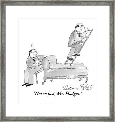 In A Psychiatrist's Office Framed Print by Victoria Roberts