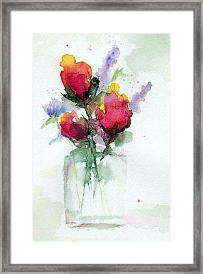 In A Vase Framed Print by Anne Duke