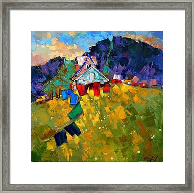 In Anticipation Of The Season Framed Print by Anastasija Kraineva