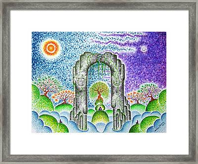 In Awe Of Silent Spaces II  Framed Print by Andrew Zeutzius