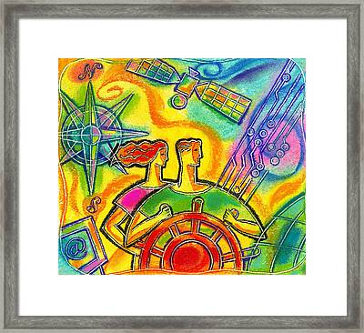 In Charge Framed Print by Leon Zernitsky