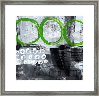 In Circles- Abstract Painting Framed Print by Linda Woods