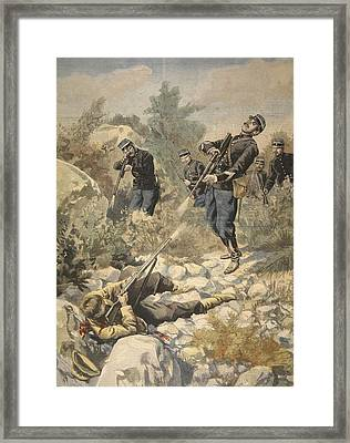 In Corsica Police And Gangster Framed Print by French School