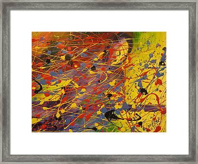 In Flight Framed Print by Becky Van Pelt