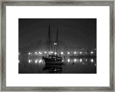 In For The Night Framed Print by Mike Flynn
