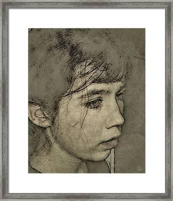 In Her Own World Framed Print by Gun Legler
