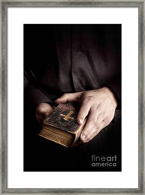 In His Hands Framed Print by Margie Hurwich