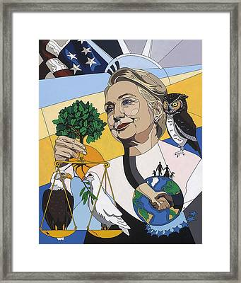 In Honor Of Hillary Clinton Framed Print by Konni Jensen