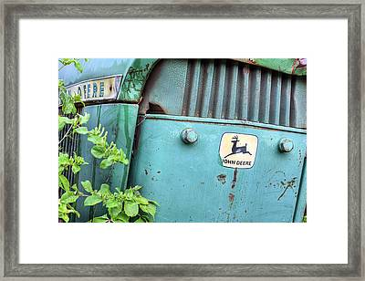 In John Deere Greene Framed Print by JC Findley