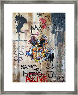 In Memory Basquiat Framed Print by Bela Manson