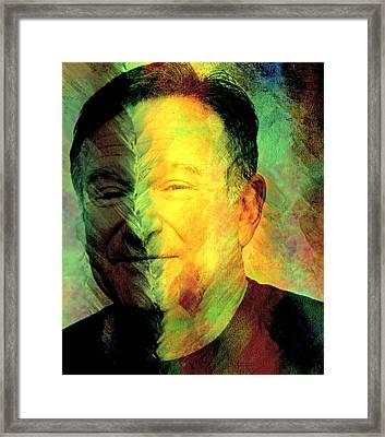 In Memory Of Robin Williams Framed Print by Ally  White