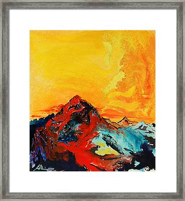 In Mountains Framed Print by Joseph Demaree