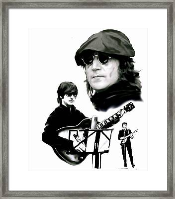In My Life  John Lennon Framed Print by Iconic Images Art Gallery David Pucciarelli