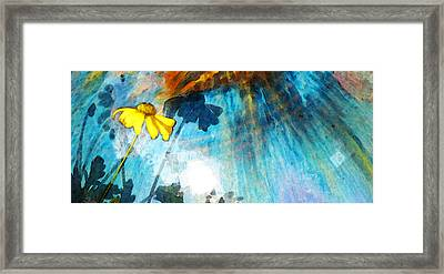 In My Shadow - Yellow Daisy Art Painting Framed Print by Sharon Cummings