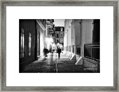 In Pirates Alley Framed Print by John Rizzuto