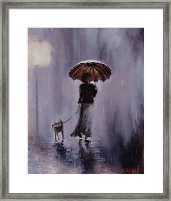 In Rain Or Shine Framed Print by Laura Lee Zanghetti