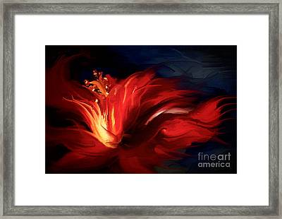 In Red Framed Print by Shanina Conway