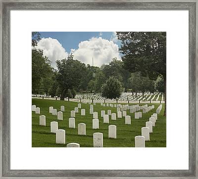 In Rememberance-arlington Framed Print by Kim Hojnacki
