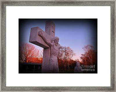 In Sacrifice Is Peace Framed Print by John Malone