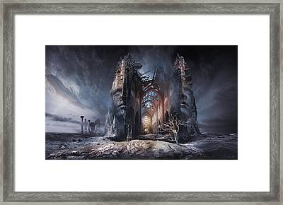 In Search Of Meaning Framed Print by George Grie