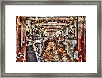 In Service Mission San Antonio De Pala By Diana Sainz Framed Print by Diana Sainz