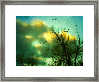 In Slow Motion Framed Print by Gothicolors Donna