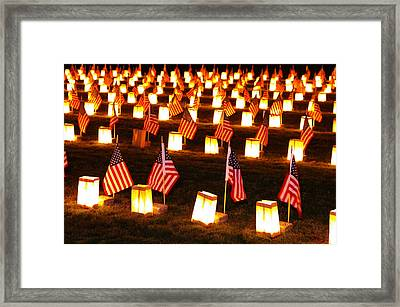 In Solemn Dedication - Gettysburg Illumination Remembrance Day 2012 - A Framed Print by Michael Mazaika