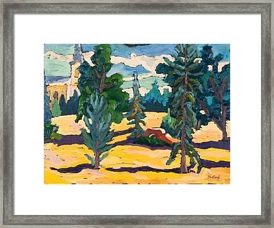 In Sparkling Sunlight, 2005 Oil On Board Framed Print by Marta Martonfi-Benke