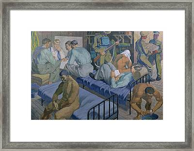 In The Barracks, 1989 Framed Print by Osmund Caine