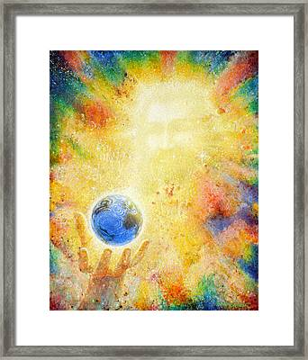 In The Beginning Framed Print by Graham Braddock