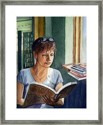 In The Book Store Framed Print by Irina Sztukowski