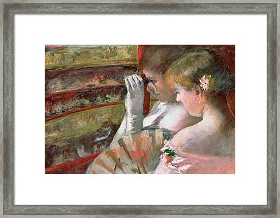 In The Box Framed Print by Mary Stevenson Cassatt
